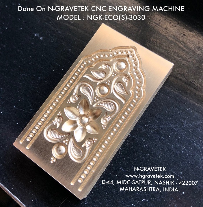 Jewelry Thappa Die Micro Milling Engraving Done On CNC Engraving Machine